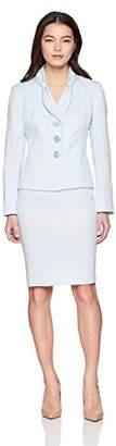 Le Suit Women's Petite Jacquard 3 Bttn Skirt
