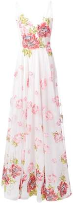 Marchesa long rose dress