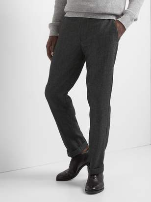 Gap Wool straight fit pants with GapFlex