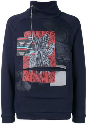 Emporio Armani printed high neck sweatshirt