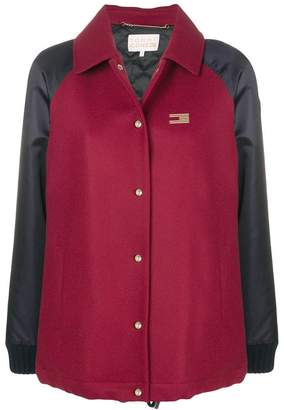 Tommy Hilfiger colour-block bomber jacket