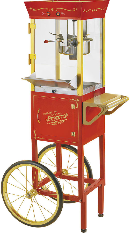Nostalgia Electrics Vintage Collection Old-Fashioned Movie Time Popcorn Cart