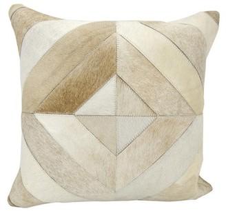 Nourison Diamond Stripes Beige Throw Pillow
