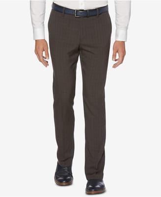 Perry Ellis Men's Portfolio Slim-Fit Stretch Tonal Plaid Dress Pants