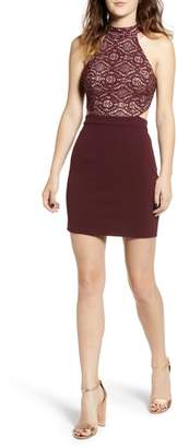 Speechless Lace Halter Dress