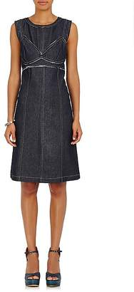 Area WOMEN'S FRAYED DENIM BODICE DRESS
