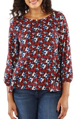 24/7 Comfort Apparel Women's Red, White and Blues Lightweight Top