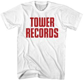 Tower Records Vintage Stack Men's White T-shirt NEW Sizes S-2XL