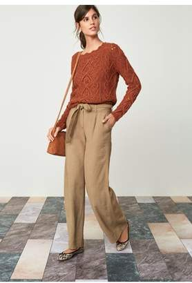 Next Womens Rust Pointelle Sweater