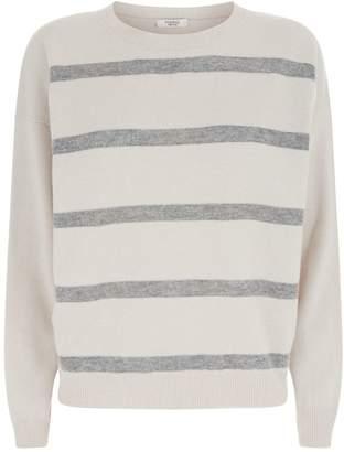 Peserico Stripe Bead Embellished Sweater