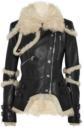 Alexander McQueen - Shearling-lined Textured-leather Jacket - Black