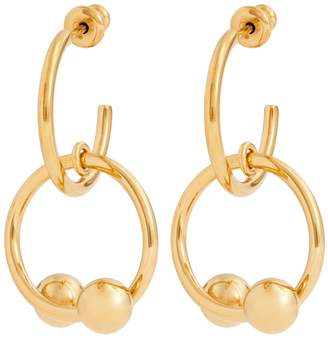 J.W.Anderson Double-sphere gold-plated hoop-drop earrings