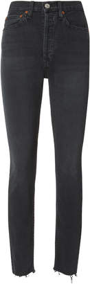 RE/DONE High-Rise Ankle Crop Black Jeans