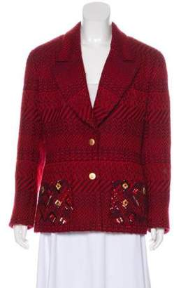 Chanel Tweed Herringbone Blazer Red Tweed Herringbone Blazer