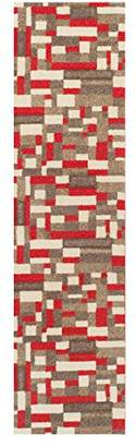Camilla And Marc The Rug Shop UK Portland 1098 R Rug Shop UK 80 x 150 cm, Polypropylene, Beige/Cream/Red, 150 x 80 x 150 cm