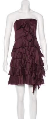 Robert Rodriguez One-Shoulder Ruffled Dress