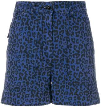 Tomas Maier leopard palm shorts