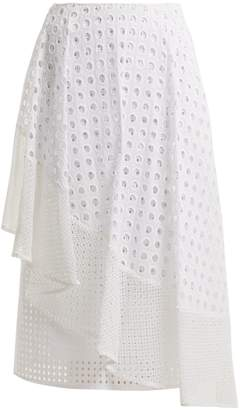 Sportmax Nabulus eyelet-lace asymmetric skirt