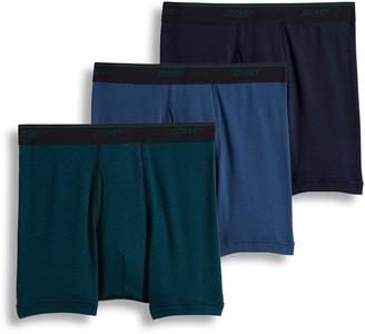 Jockey Men's 3-pack Essential Fit Staycool+ Boxer Briefs