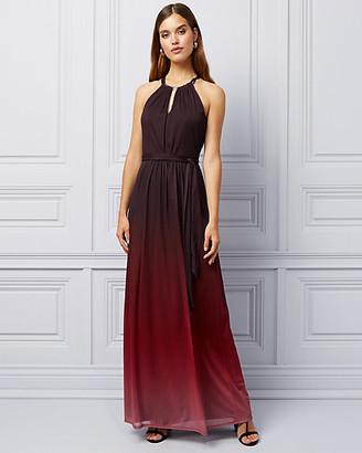 Le Château Ombre Knit Halter Gown