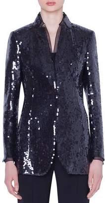 Akris Daria Sequined Organza Jacket