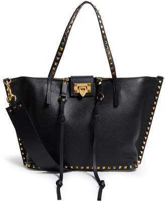 Valentino Medium Leather Rockstud Tote Bag
