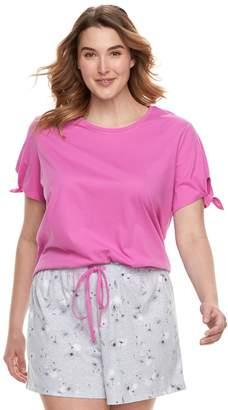 Sonoma Goods For Life Plus Size SONOMA Goods for Life Tee & Shorts Pajama Set