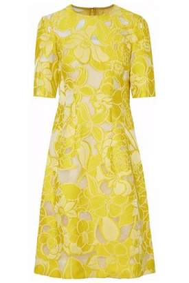 Lela Rose Floral-Jacquard And Tulle Dress
