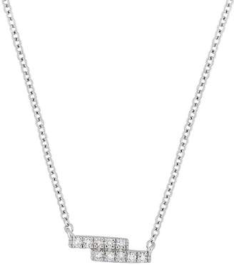 Carriere Sterling Silver Petite Pave Diamond Pendant Necklace - 0.06 ctw