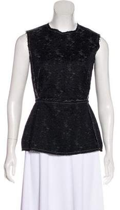 Derek Lam Sleeveless Crew Neck Top