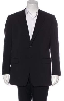 Prada Tonal Striped Wool-Blend Blazer