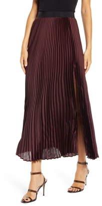 Leith Pleated Maxi Skirt