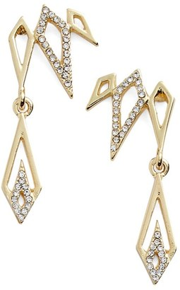 Women's Jules Smith Pave Drop Ear Crawlers $75 thestylecure.com