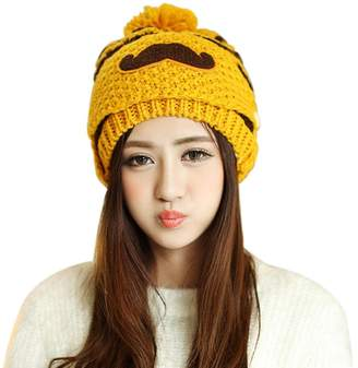 13449497c0 ABC® 1099 ABC® Winter Hat, Womens Cute Beard Hat Knit Warm Cap Beanies