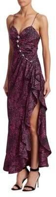 Alice + Olivia Alessandra Rich Jacquard Silk Embellished Slip Dress