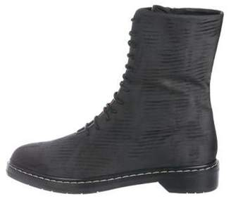 The Row Fara Silk Wool Combat Boots wool Fara Silk Wool Combat Boots