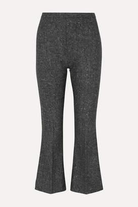 Antonio Berardi Cropped Wool-tweed Flared Pants - Gray
