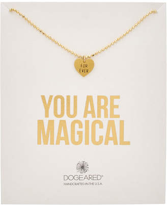 Dogeared 14K Over Silver You Are Magical Forever Necklace