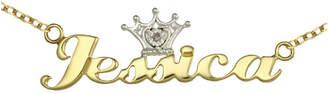 FINE JEWELRY Disney Personalized Girls Diamond Accent Tiara Name Necklace