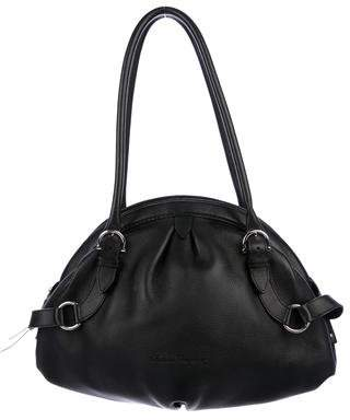 Salvatore Ferragamo Grained Leather Dome Bag