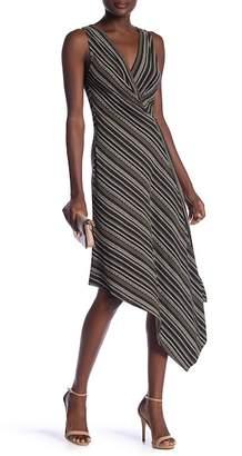 BCBGMAXAZRIA Asymmetrical Faux Wrap Dress