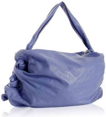 Dautore celeste leather side knotted hobo