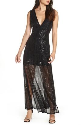 BB Dakota Sequin Mesh Gown