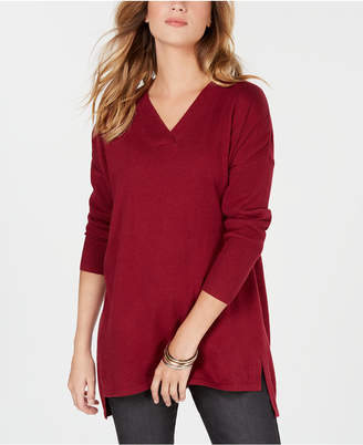 Style&Co. Style & Co Petites High-low Over-sized Tunic Sweater