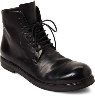 Marsèll Black Leather Lace-Up Boots
