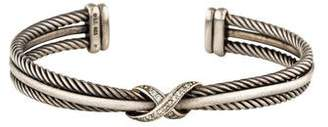 David Yurman Diamond Crossover X Bracelet