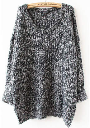 Shein Gray Long Sleeve Loose Sweater