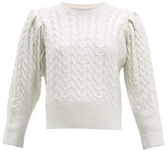 MSGM Metallic Wool Blend Cable Knit Sweater - Womens - Silver