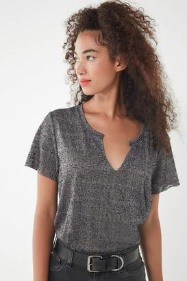 Project Social T Textured Notch Neck Tee