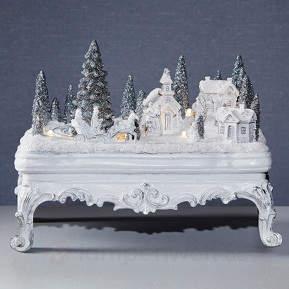 Weiße LED-Weihnachtsszene Glasgow